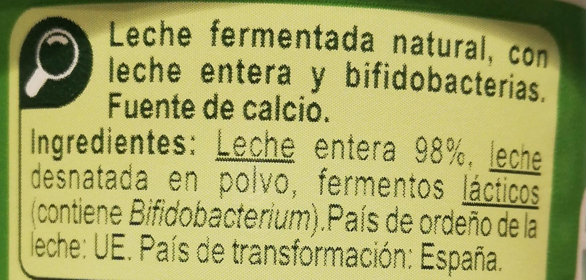 Bifidus - Ingredientes - es