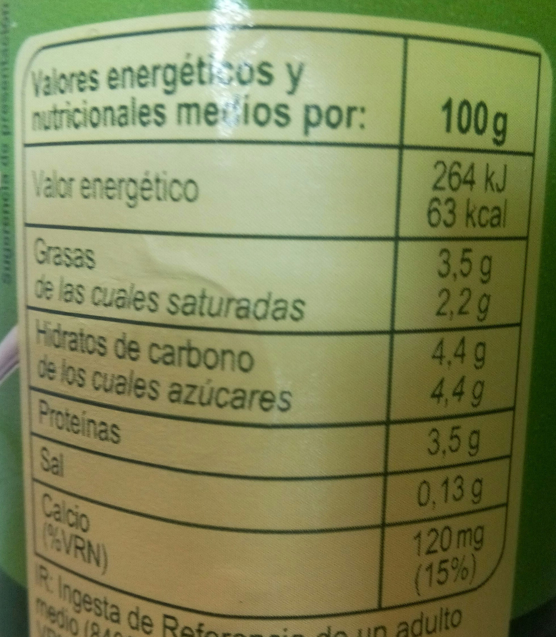 Bifidus - Información nutricional - es