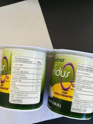 Yogur natural bifidus - Informations nutritionnelles - es