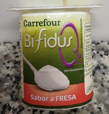 Yogur sabor a fresa desnatado - Producto