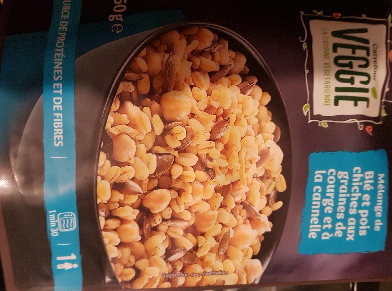 Blé et pois chiches aux graines de courge et à la cannelle - Product - fr