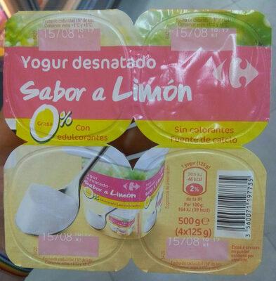 Yogur desnatado sabor limon - Producte - es