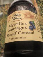Confiture Myrtilles sauvages du Massif Central - Valori nutrizionali - fr