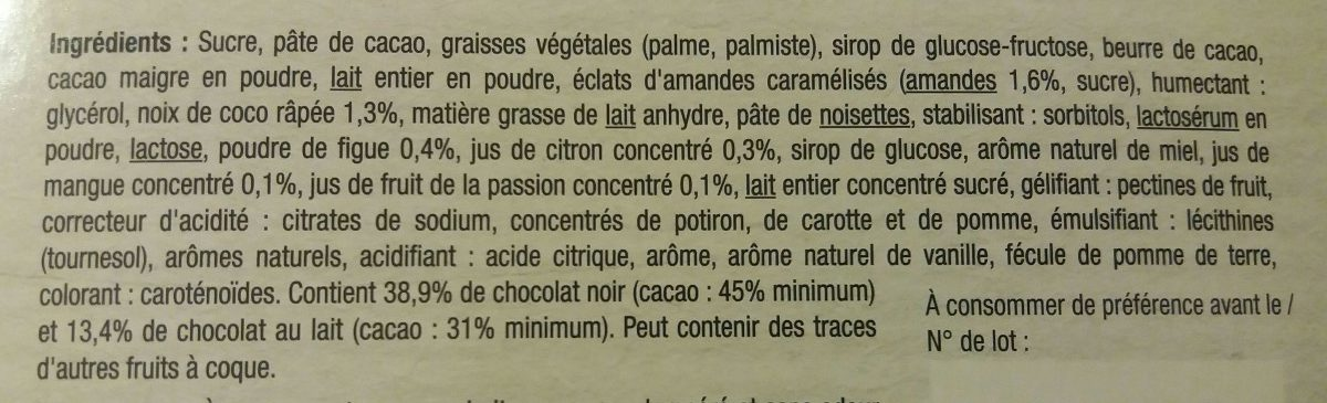 L'Audacieux - Ingrédients - fr