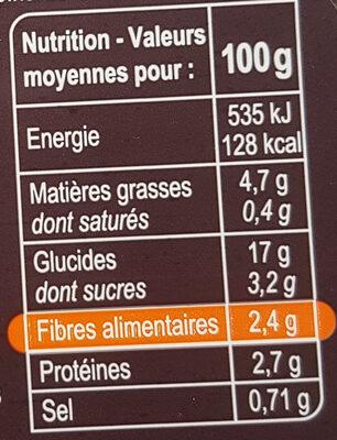 Veggie salade duo de carottes, riz noir, quinoa - Voedingswaarden - fr