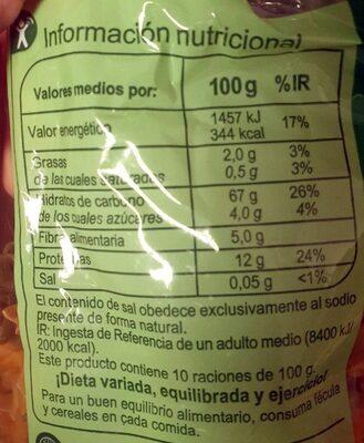 Espirales tricolor - Nutrition facts - es