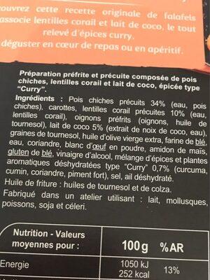 Falafels - Ingrediënten