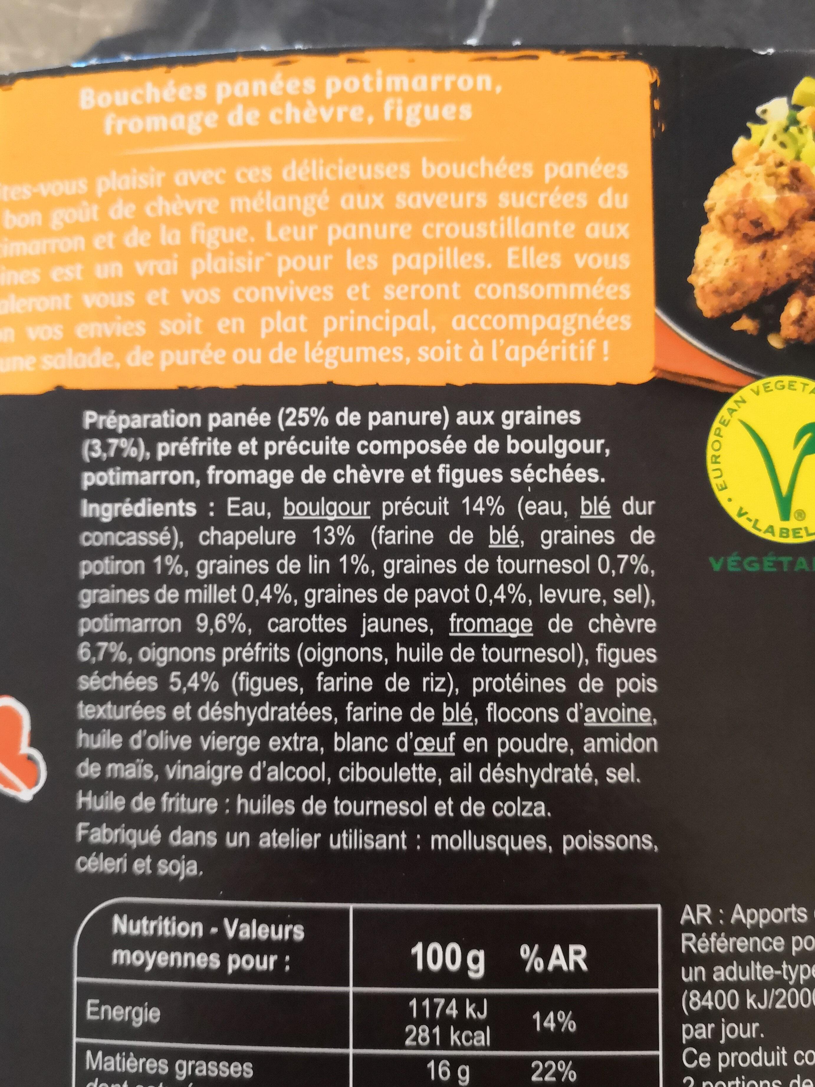 Veggie bouchées panées - Ingrédients - fr