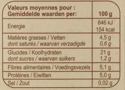 Ail surgelé - Valori nutrizionali - fr