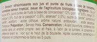 Saveur tropicale - Ingrédients - fr