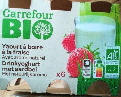 Yaourt à boire à la fraise - Produit - fr