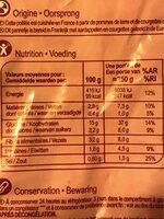 Poêlé country façon type BBQ - Valori nutrizionali - fr