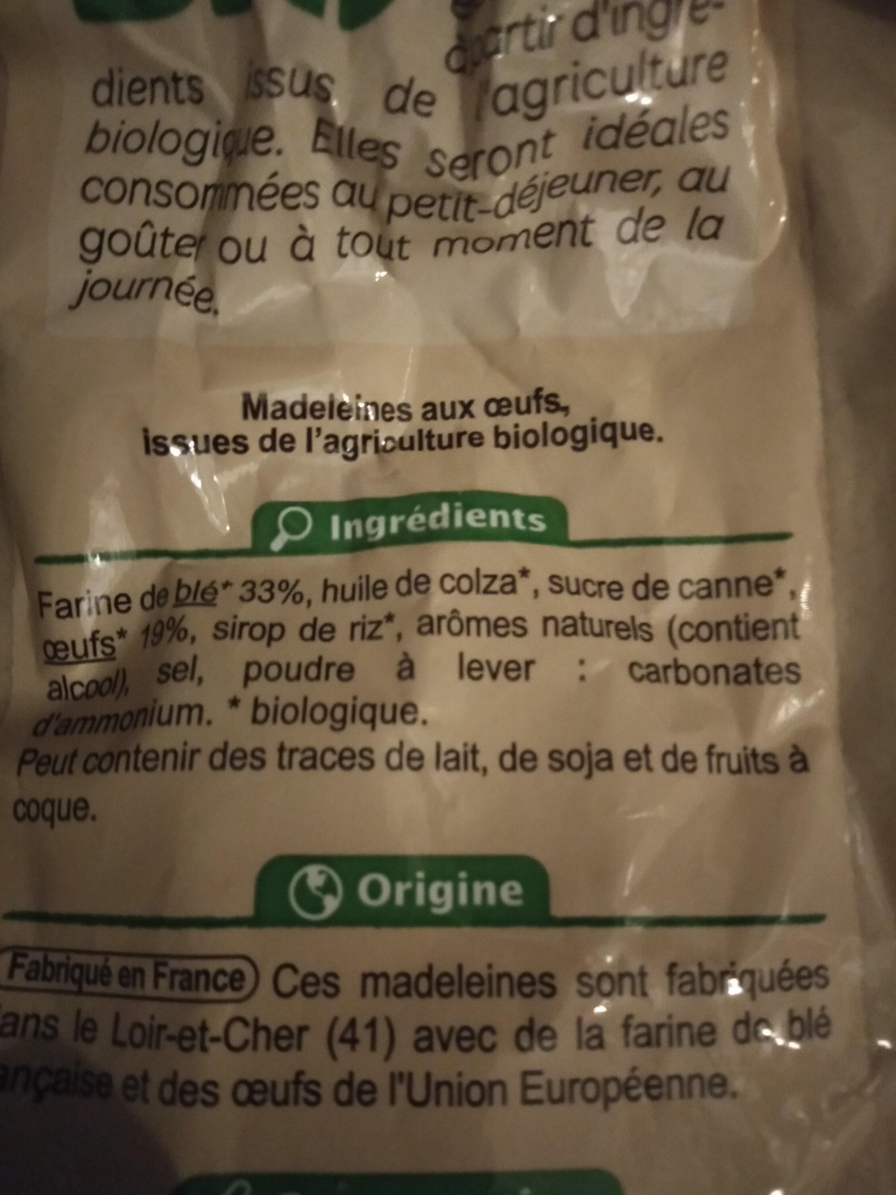 Madeleine coquilles - Ingrediënten - fr