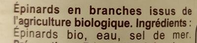 Épinards en branches - Ingrédients - fr