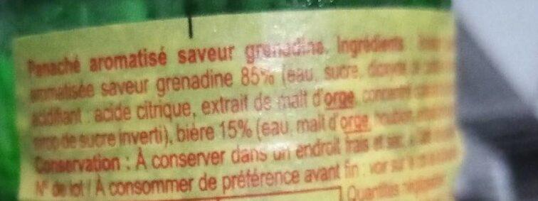 Panaché - Ingredienti - fr
