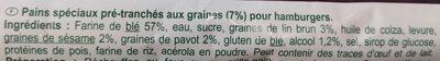 Pain à burger - Ingredienti - fr