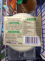 Houmous - Informations nutritionnelles - fr