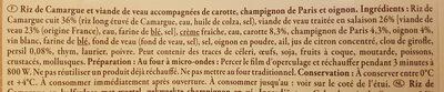Blanquette de veau et son riz de Camargue - Ingrédients - fr