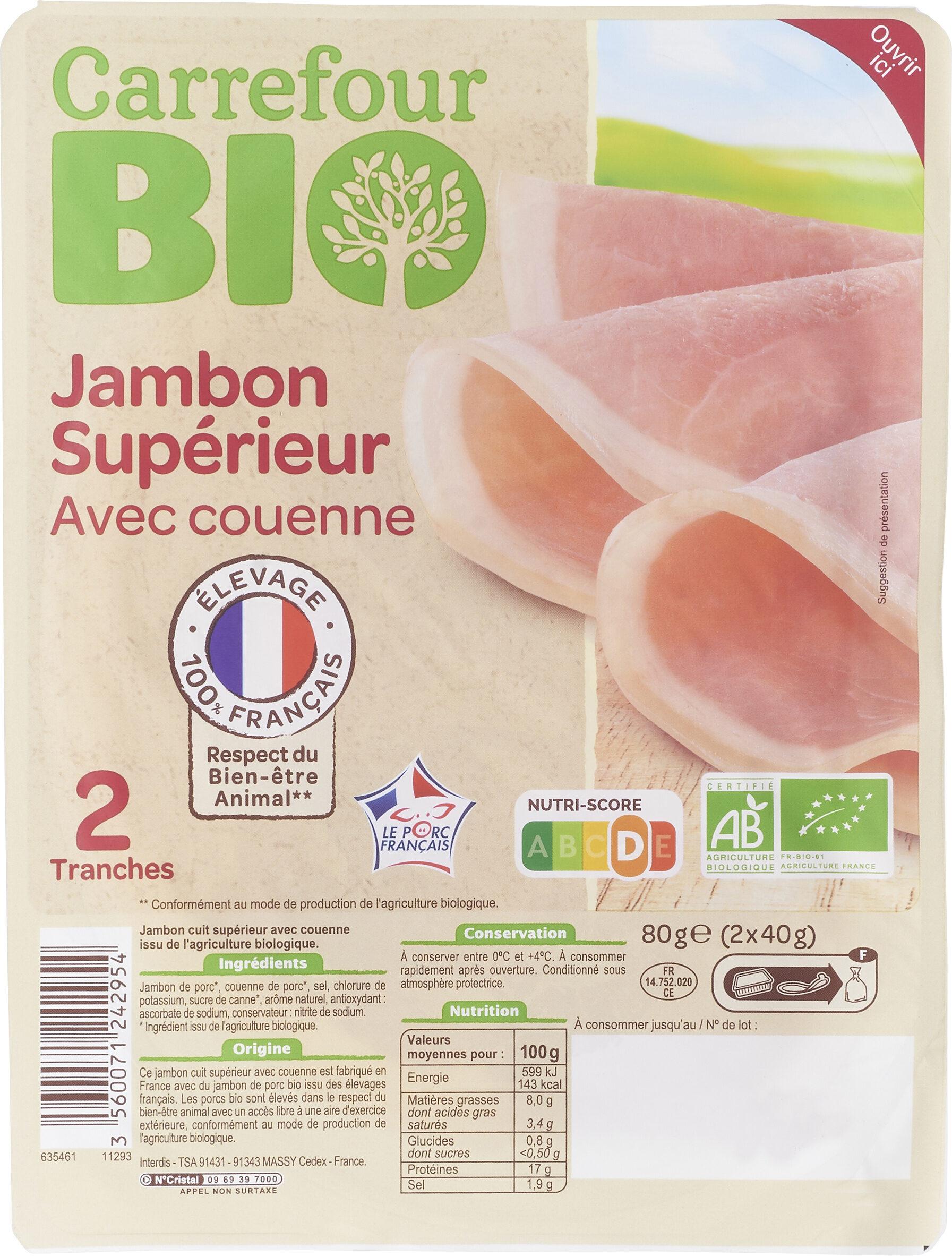 Jambon Supérieur avec couenne - Produit - fr