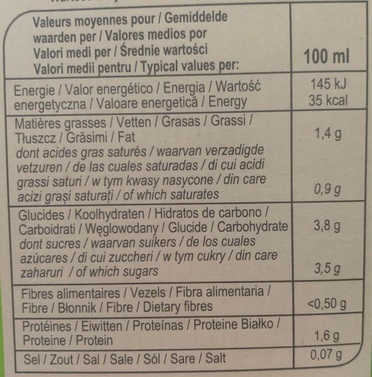 Cappucino carrefour extra compatible dolce gusto - Valori nutrizionali - fr