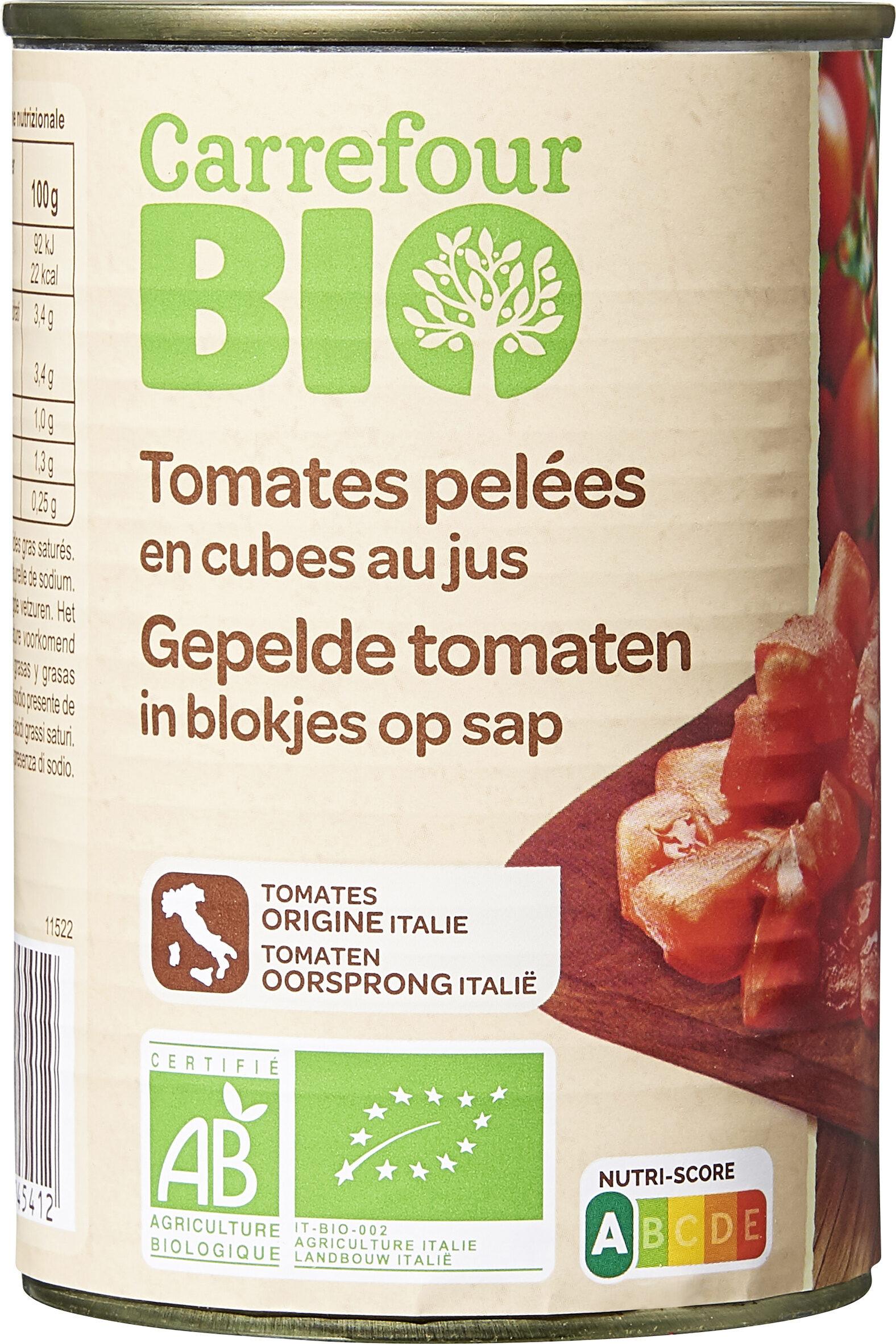 Tomates pelées en cubes au jus - Product - fr