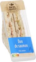 Duo de saumon, pain polaire - Produit - fr