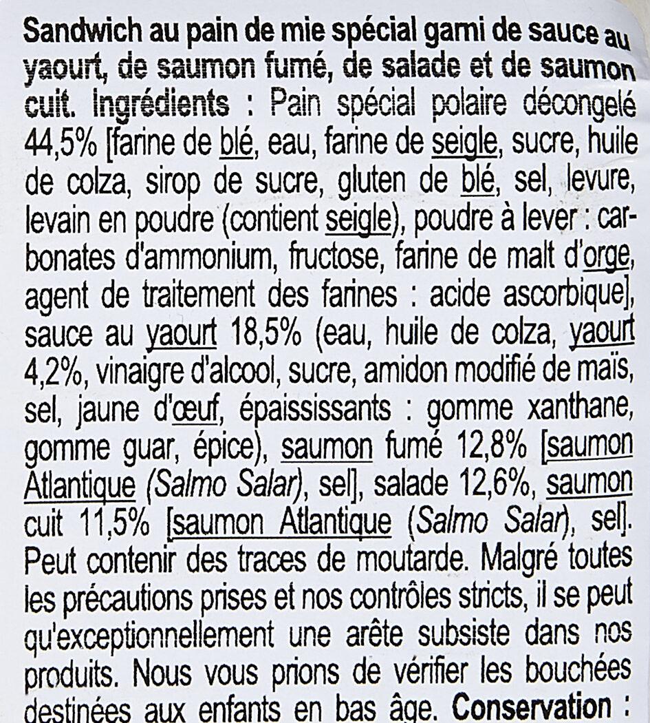 Duo de saumon, pain polaire - Ingrédients - fr