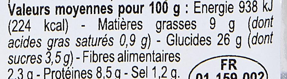 Duo de saumon, pain polaire - Informations nutritionnelles - fr