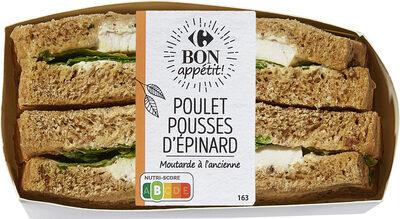 Sandwich poulet pousses d'epinard - Prodotto - fr