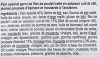 Sandwich poulet pousses d'epinard - Ingredienti - fr