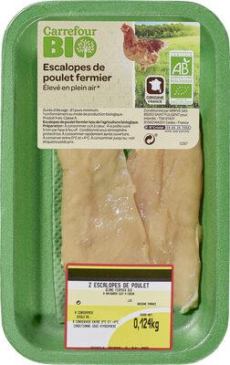 Escalopes de poulet fermier - Produit - fr