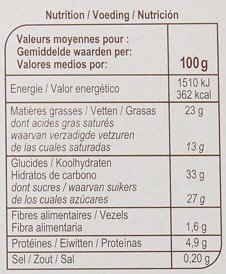 Glace vanille et amande - Informations nutritionnelles - fr
