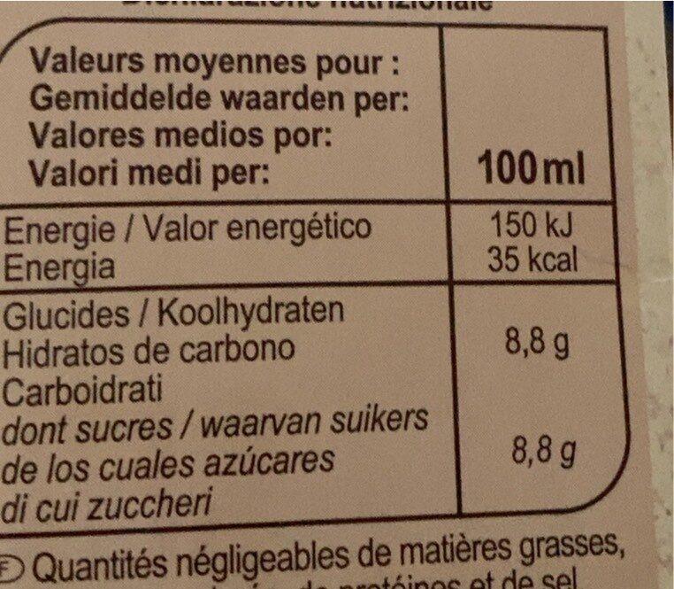 Nectar de pomme - Valori nutrizionali - fr