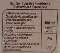 Nectar Multifruits - Valori nutrizionali - fr