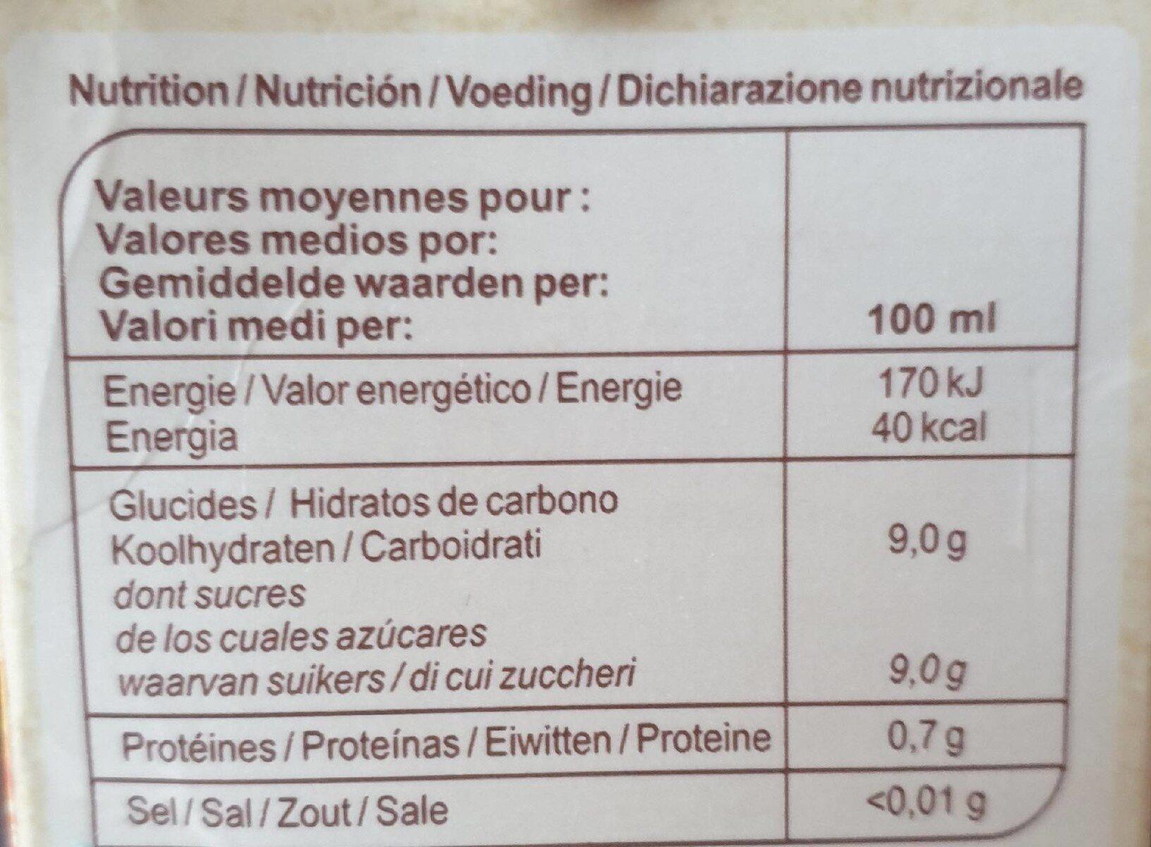 Carrefour bio jus d'orange avec pulpe - Informations nutritionnelles - fr