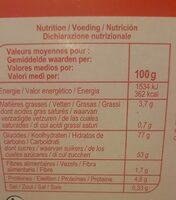 Les barquettes Fraise - Informations nutritionnelles - fr