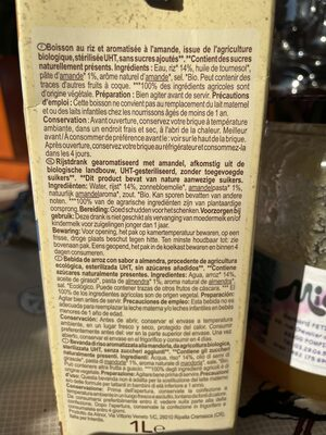 Riz saveur Amande - Ingrédients - fr
