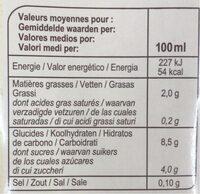 Riz saveur Amande - Informations nutritionnelles - fr