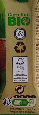 Lait de coco - Istruzioni per il riciclaggio e/o informazioni sull'imballaggio - fr