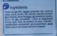 Croissants - Ingrédients - fr