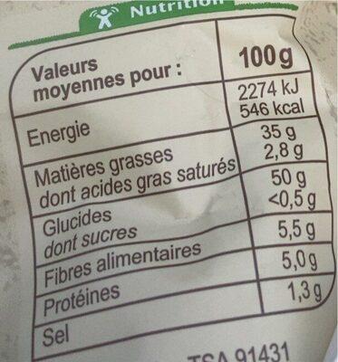 Chips - Informations nutritionnelles - fr