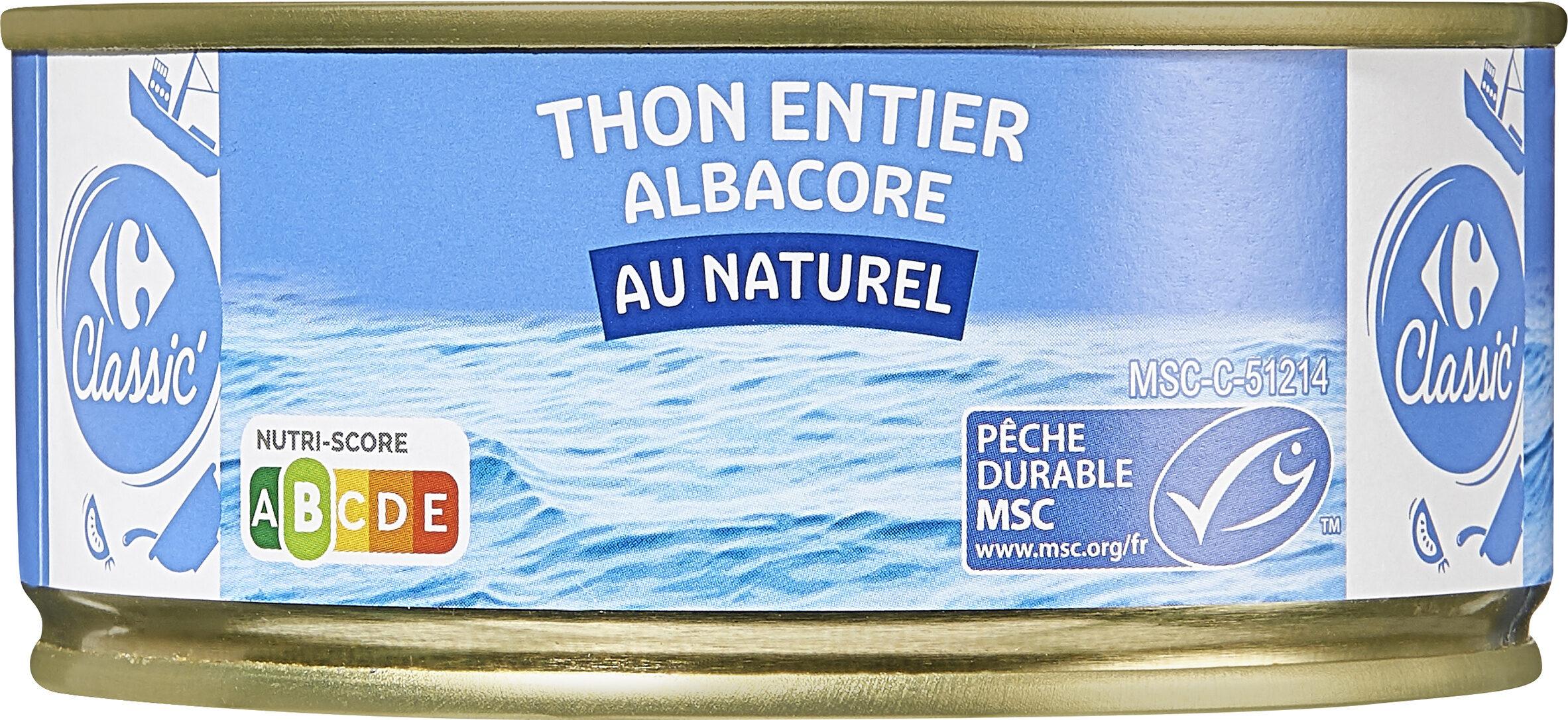 Thon entier albacore au naturel - Produit - fr