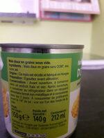 Maïs doux 3 x 1/4 - Ingrédients - fr