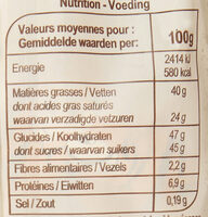 Œufs à cacher - Valori nutrizionali - fr