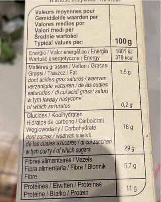 Blé soufflé Caramélisé - Informations nutritionnelles - fr