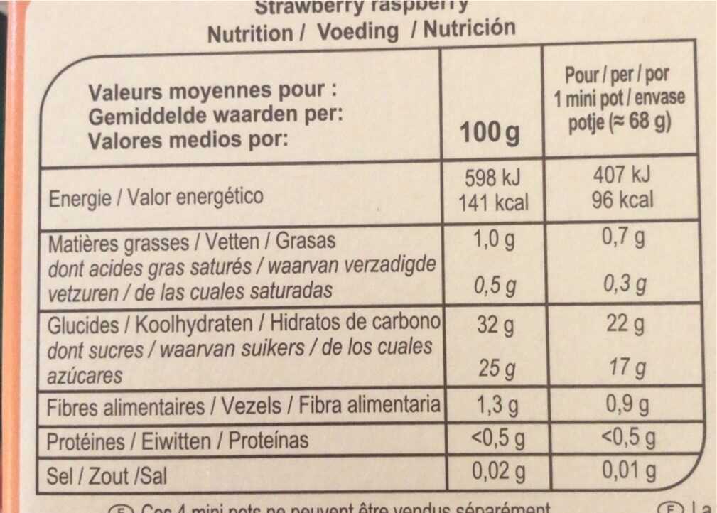 Fruit selection - Informations nutritionnelles - fr