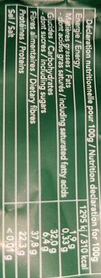 Poudre de Thé Vert Matcha - Ingredients - fr