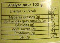 Epeautre bio torréfié pour boisson instantanée (café) - Informations nutritionnelles - fr