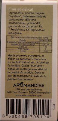 Flacon Cristaux He Cardamome 20G - Nutrition facts - fr