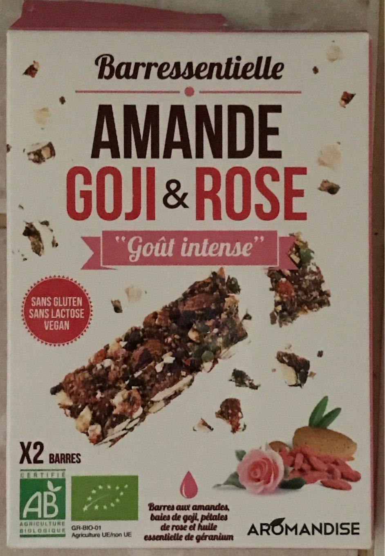 Barres aux amandes, baies de goji, pétales de rose et huile essentielle de géranium - Produit - fr
